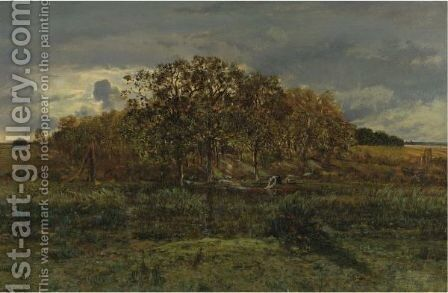 Paysage, Apres L'Orage by Theodore Rousseau - Reproduction Oil Painting