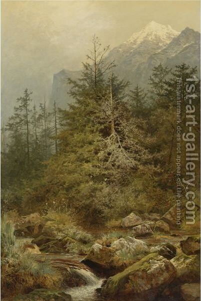 The Valley Of Sweet Waters by Benjamin Williams Leader - Reproduction Oil Painting