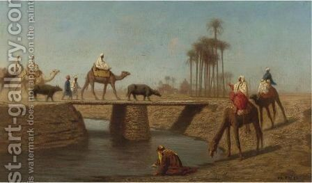 A Bridge, High Egypt by Charles Théodore Frère - Reproduction Oil Painting