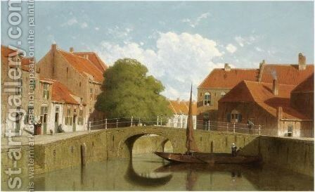 A View Of Amersfoort by Jan Weissenbruch - Reproduction Oil Painting