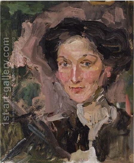 A Portrait Of A Lady 2 by Isaac Israels - Reproduction Oil Painting