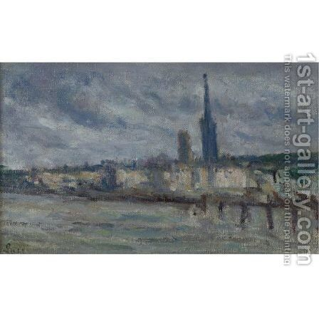 Rouen Les Quais by Maximilien Luce - Reproduction Oil Painting