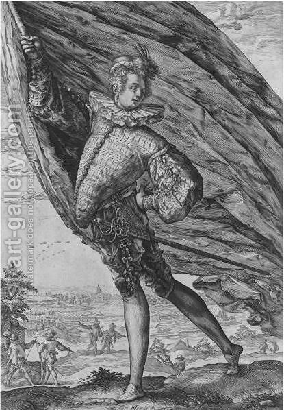 The Great Standard-Bearer by Hendrick Goltzius - Reproduction Oil Painting