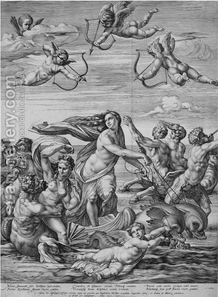 The Triumph Of Galatea by Hendrick Goltzius - Reproduction Oil Painting
