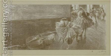 Danseuses Au Foyer by (after) Edgar Degas - Reproduction Oil Painting