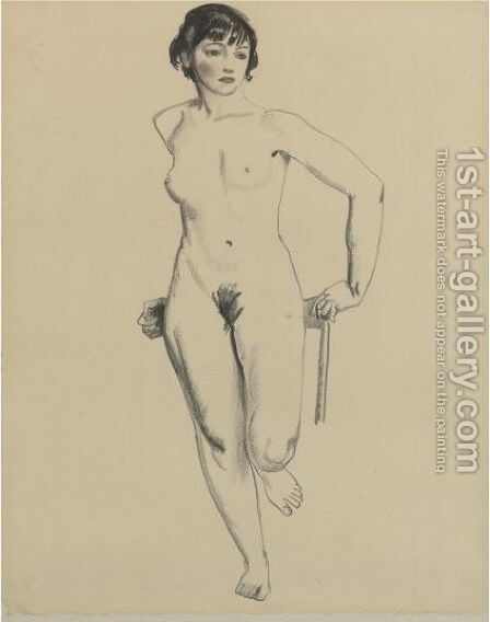 Standing Nude by George Wesley Bellows - Reproduction Oil Painting