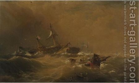 Off Sandy Hook by Edward Moran - Reproduction Oil Painting