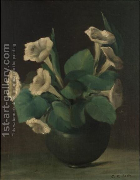 A Bowl Of Morning Glories by Charles Ethan Porter - Reproduction Oil Painting