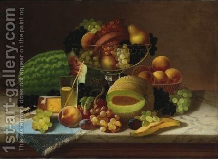 Fruit Piece by Carducius Plantagenet Ream - Reproduction Oil Painting