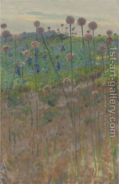 Wild Flowers by Charles Sprague Pearce - Reproduction Oil Painting