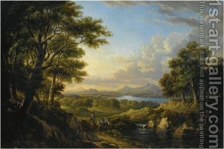View Of The Highlands by Alexander Nasmyth - Reproduction Oil Painting