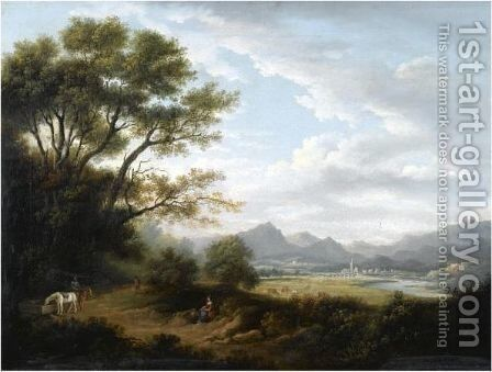 Landscape With Perth Bridge In The Distance by (after) Alexander Nasmyth - Reproduction Oil Painting