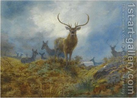 The Last Chance Before Dark by Archibald Thorburn - Reproduction Oil Painting