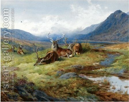 Naboth's Vineyard by Archibald Thorburn - Reproduction Oil Painting
