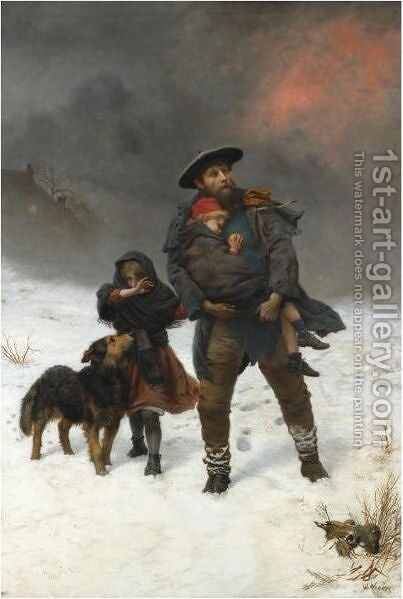 Two Of His Flock by Herbert William Weekes - Reproduction Oil Painting