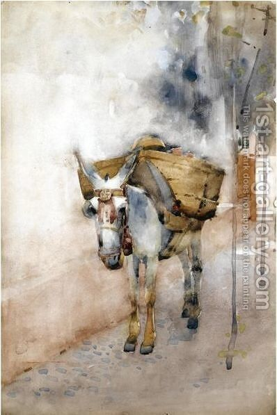The Arab Donkey by Arthur Melville - Reproduction Oil Painting