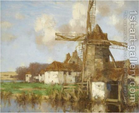 The Old Mill, Autumn by David Gauld - Reproduction Oil Painting