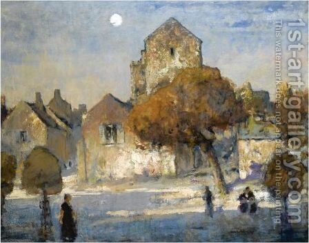 A Little Town In France by James Paterson - Reproduction Oil Painting