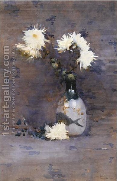 Crysathemums by James Paterson - Reproduction Oil Painting