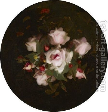 Pink Roses 2 by James Stuart Park - Reproduction Oil Painting