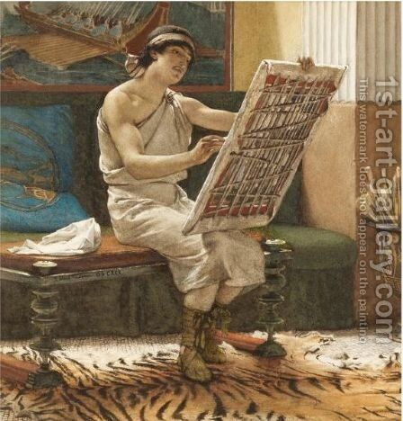 A Roman Artist, The Art Of Drawing by Sir Lawrence Alma-Tadema - Reproduction Oil Painting