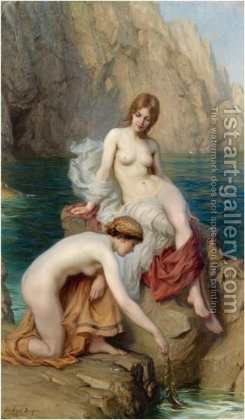 By Summer Seas by Herbert James Draper - Reproduction Oil Painting