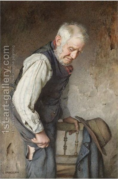 The Torn Trouser by Charles Spencelayh - Reproduction Oil Painting