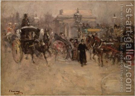 Hyde Park Corner by Sir John Lavery - Reproduction Oil Painting