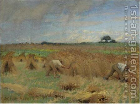 Reapers by Sir George Clausen - Reproduction Oil Painting