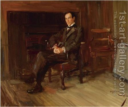 Portrait Of Thomas Henry Towler Case by Sir Alfred James Munnings - Reproduction Oil Painting