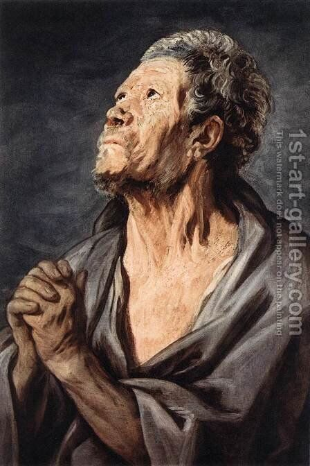 An Apostle by Jacob Jordaens - Reproduction Oil Painting