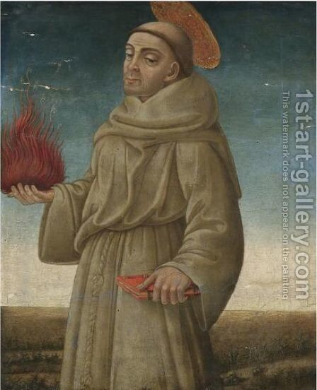 Saint Anthony Of Padua by Nero di Bicci - Reproduction Oil Painting