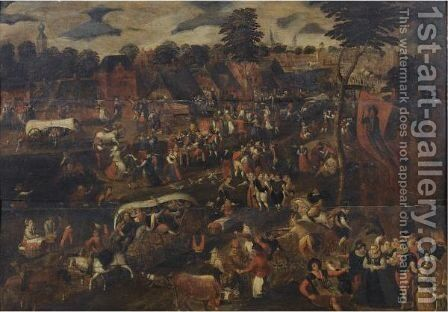 The Kermesse Of Saint George by (after) Peeter Baltens - Reproduction Oil Painting