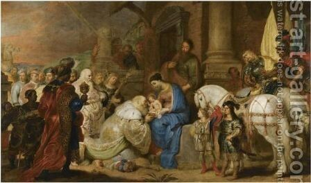 The Adoration Of The Magi by Cornelis De Vos - Reproduction Oil Painting