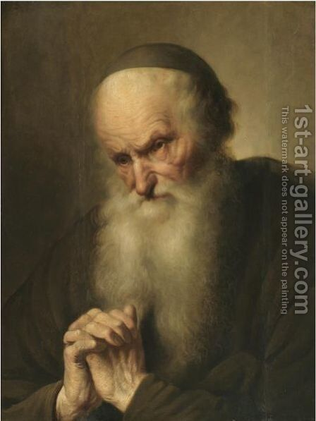 A Tronie Of An An Old Man At Prayer by Jacques des Rousseaux - Reproduction Oil Painting