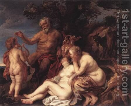 Education Of Jupiter by Jacob Jordaens - Reproduction Oil Painting