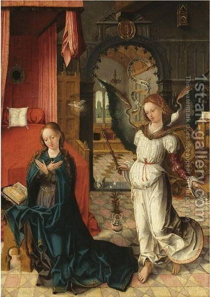The Annunciation To The Virgin by Antwerp School - Reproduction Oil Painting