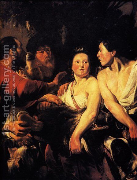 Meleager And Atalanta by Jacob Jordaens - Reproduction Oil Painting
