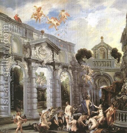 Nymphs At The Fountain Of Love by Jacob Jordaens - Reproduction Oil Painting
