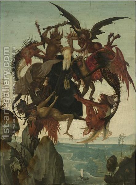 The Temptation Of Saint Anthony by (after) Domenico Ghirlandaio - Reproduction Oil Painting