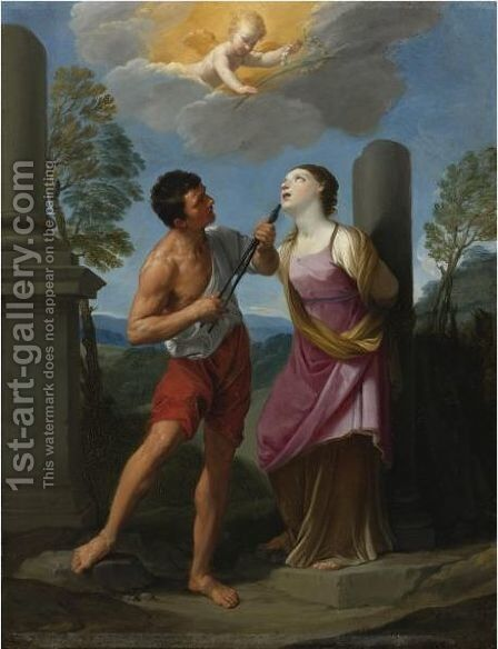 The Martyrdom Of Saint Apollonia by Guido Reni - Reproduction Oil Painting