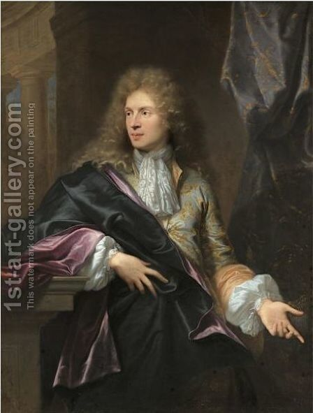 Portrait Of Pierre-Vincent Bertin (Circa1654 - 1711) by Hyacinthe Rigaud - Reproduction Oil Painting