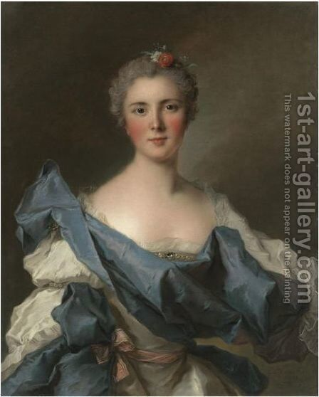 Portrait Of The Comtesse D'Andlau by Jean-Marc Nattier - Reproduction Oil Painting