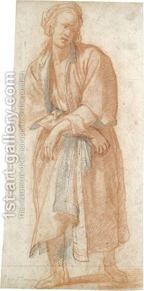 Study Of A Captive Figure In A Long Coat by Matteo Rosselli - Reproduction Oil Painting