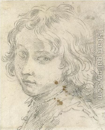 Head Of A Young Boy by Donato Creti - Reproduction Oil Painting