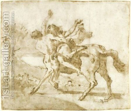 Nessus And Dejanira by Giovanni Domenico Tiepolo - Reproduction Oil Painting