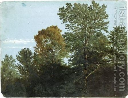 A View Of Woodland by (after) Heinrich Reinhold - Reproduction Oil Painting