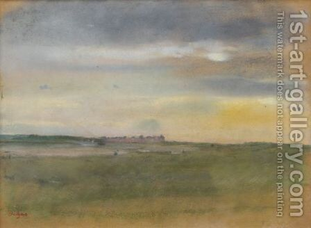 Paysage, Soleil Couchant by Edgar Degas - Reproduction Oil Painting