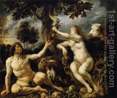 The Fall Of Man by Jacob Jordaens - Reproduction Oil Painting