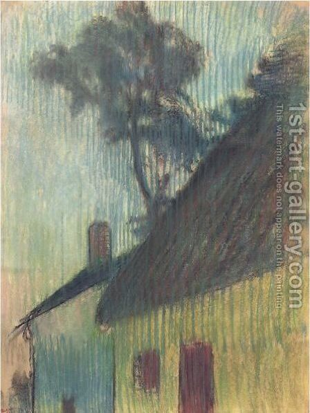 Coin De Village by Edgar Degas - Reproduction Oil Painting